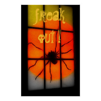 FREAK OUT Spider wall poster
