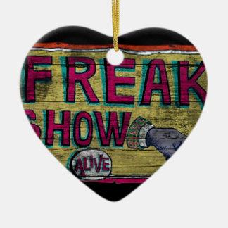 Freak Show Vintage Banner Christmas Ornament