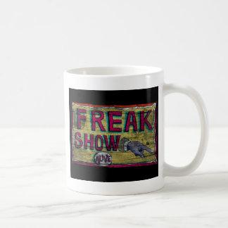 Freak Show Vintage Banner Basic White Mug