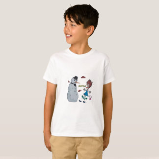Freaked Out Scary Ssowman T_ Shirt