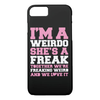 Freakin Weird Best Friends Pink iPhone 7 Case
