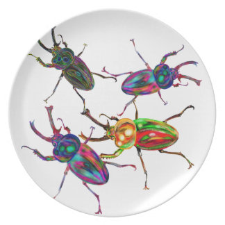 Freakly stag beetles insect gifts and accessories plate