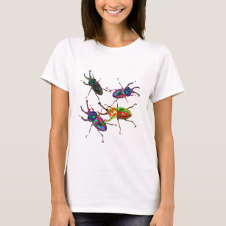 Freaky Cool Rainbow Stag Beetles T-Shirt