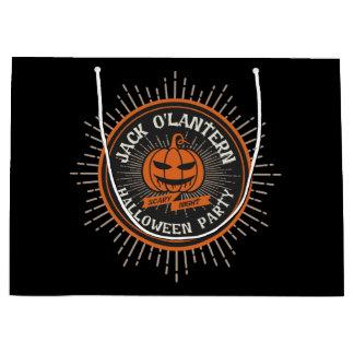 Freaky Jack o' Lantern. Halloween Party. Large Gift Bag