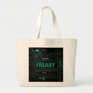 Freaky tech. large tote bag