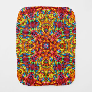 Freaky Tiki Kaleidoscope Burp Cloth