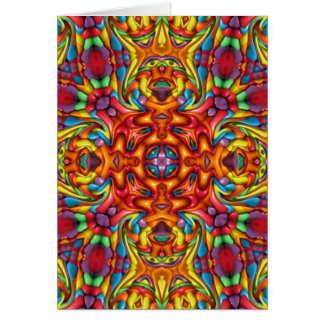 Freaky Tiki Kaleidoscope  Custom Greeting Cards