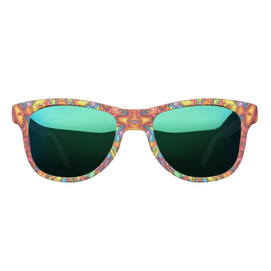 Freaky Tiki Kaleidoscope Custom Sunglasses