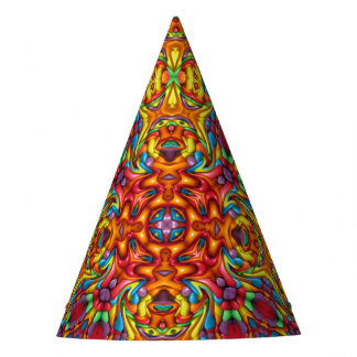 Freaky Tiki Kaleidoscope  Customizable Party Hats