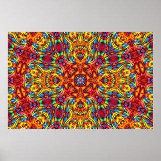 Freaky Tiki Kaleidoscope   Poster