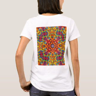 Freaky Tiki Kaleidoscope  Shirts, back print T-Shirt