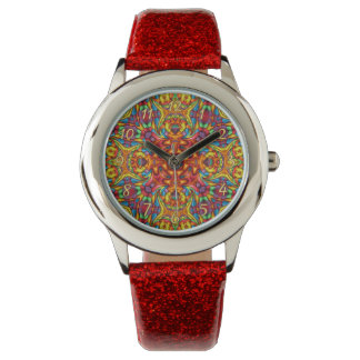Freaky Tiki Kaleidoscope Vintage Kids Watch