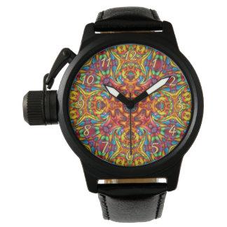 Freaky Tiki Kaleidoscope  Vintage Mens Watch