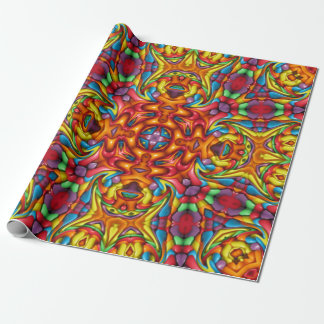 Freaky Tiki Kaleidoscope Vintage   Wrapping Paper