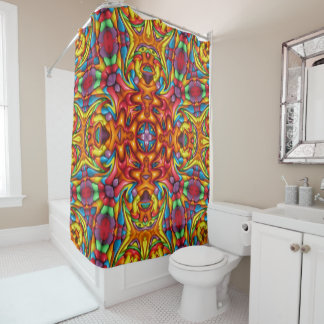 Freaky Tiki Pattern    Custom Shower Curtain