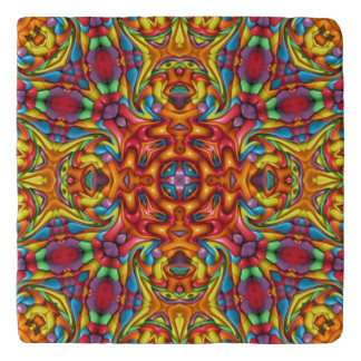 Freaky Tiki Pattern   Custom Stone Trivets