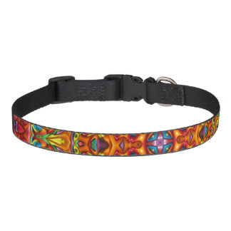 Freaky Tiki Pattern  Dog Collars, 3 sizes Pet Collar