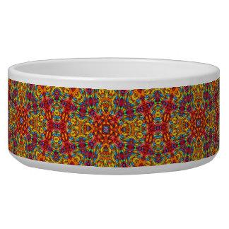 Freaky Tiki  Vintage Kaleidoscope  Pet Dish Dog Water Bowl