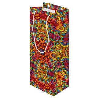 Freaky Tiki Vintage Kaleidoscope    Wine Bags