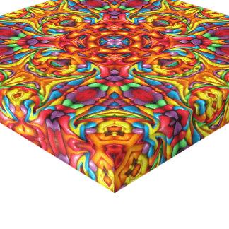 Freaky Tiki  Vintage Kaleidoscope   Wrapped Canvas