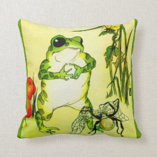 Freckle Frog Throw Pillow