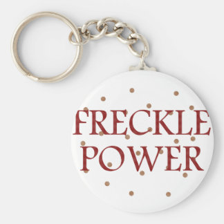 Freckle Power Basic Round Button Key Ring