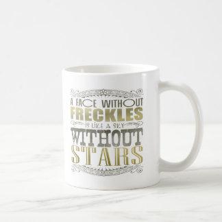 Freckles Are Beautiful Classic White Coffee Mug