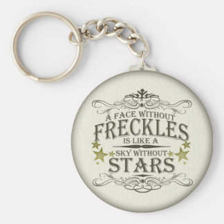 Freckles are Cute Basic Round Button Key Ring