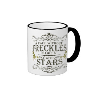 Freckles are Cute Ringer Coffee Mug