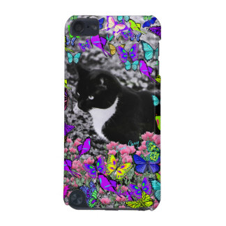 Freckles in Butterflies II - Black & White Tux Cat iPod Touch 5G Cover