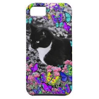Freckles in Butterflies II - Tux Kitty Cat iPhone 5 Cases