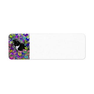 Freckles in Butterflies II - Tux Kitty Cat Return Address Label
