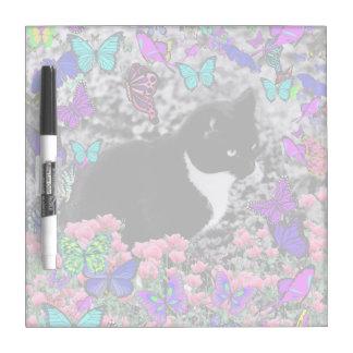 Freckles in Butterflies III, Tux Kitty Cat Dry-Erase Whiteboard