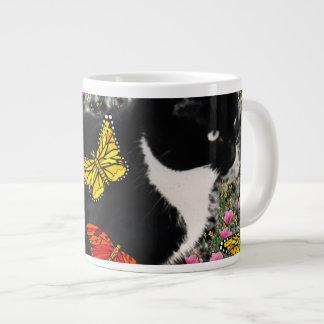 Freckles in Butterflies - Tux Kitty Cat Jumbo Mug
