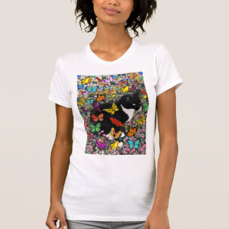 Freckles in Butterflies - Tux Kitty Cat Shirts