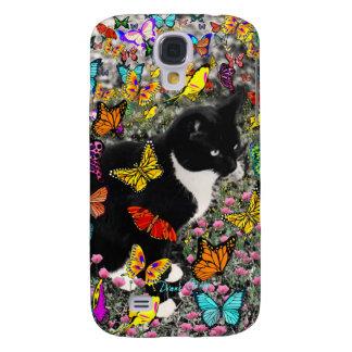 Freckles in Butterflies - Tuxedo Kitty Galaxy S4 Case