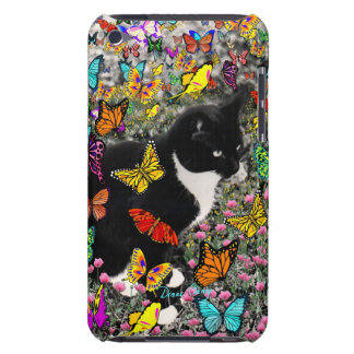 Freckles in Butterflies - Tuxedo Kitty iPod Touch Covers