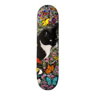 Freckles in Butterflies - Tuxedo Kitty Skate Decks