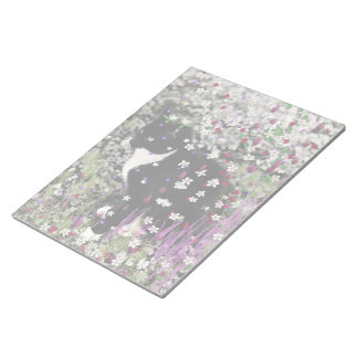 Freckles in Flowers I - Black and White Tux Cat Memo Note Pads