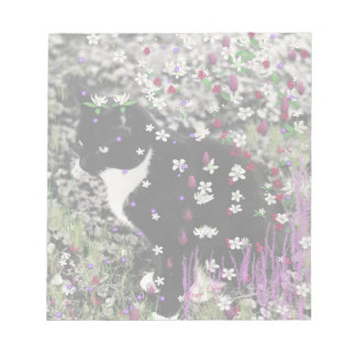 Freckles in Flowers I - Tux Kitty Cat Memo Notepads