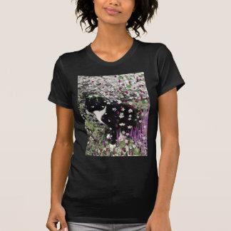 Freckles in Flowers I - Tuxedo Kitty Cat Shirt