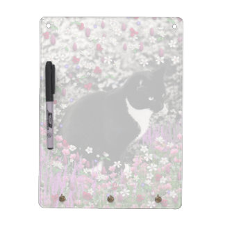 Freckles in Flowers II - Tux Kitty Cat Dry Erase Boards