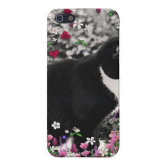 Freckles in Flowers II - Tuxedo Cat iPhone 5 Cover