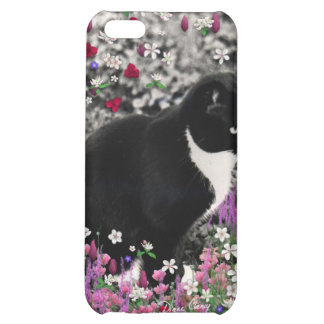 Freckles in Flowers II - Tuxedo Kitty Cat iPhone 5C Cover