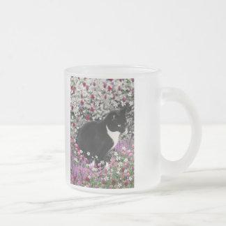 Freckles in Flowers II - Tuxedo Kitty Cat Mug