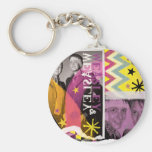 Fred and George Weasley Basic Round Button Key Ring