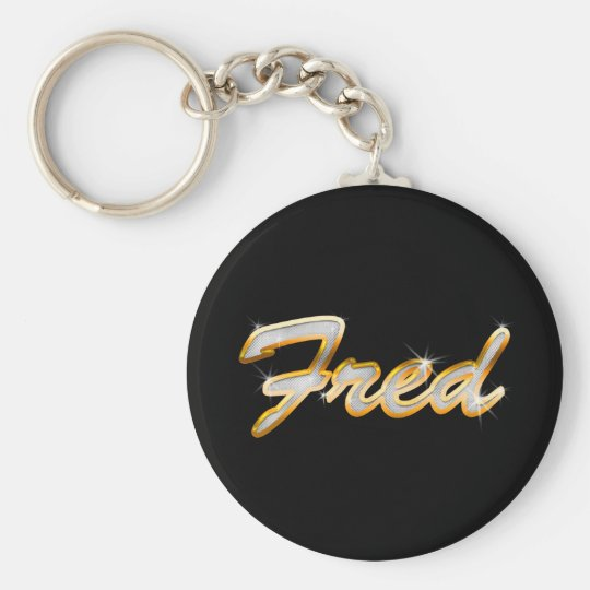 Fred Bling Basic Round Button Key Ring