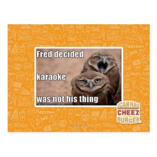 Fred decided postcard