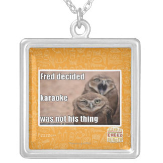 Fred decided silver plated necklace