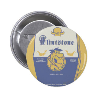 Fred Flintston Big Bold Belly Wash 6 Cm Round Badge